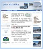 Obec Slavičky - zima - tvorba www stránek, webdesign, internetové obchody