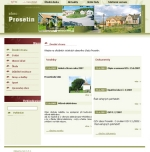 Obec Prosetín - tvorba www stránek, webdesign, internetové obchody